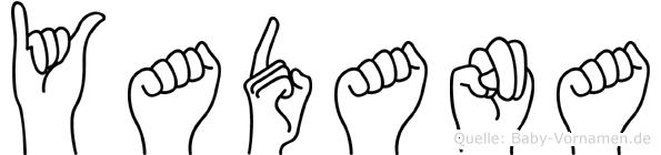 Yadana in Fingersprache für Gehörlose