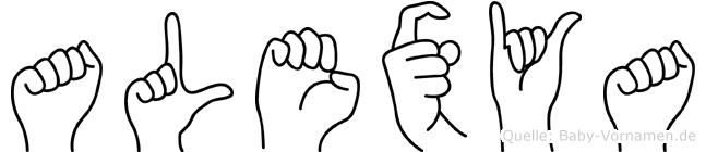 Alexya in Fingersprache für Gehörlose