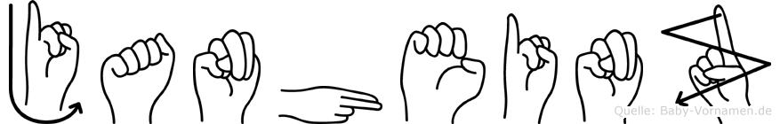 Janheinz in Fingersprache für Gehörlose