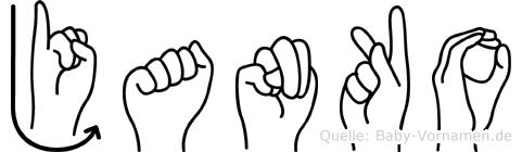 Janko in Fingersprache für Gehörlose