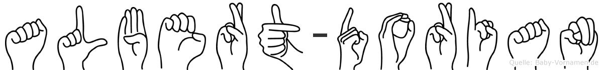 Albert-Dorian im Fingeralphabet der Deutschen Gebärdensprache