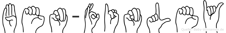 Ben-Finley im Fingeralphabet der Deutschen Gebärdensprache