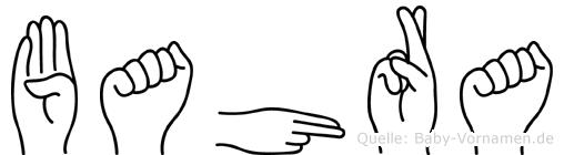 Bahra in Fingersprache für Gehörlose