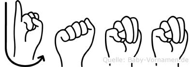 Jann in Fingersprache für Gehörlose