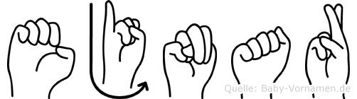 Ejnar im Fingeralphabet der Deutschen Gebärdensprache