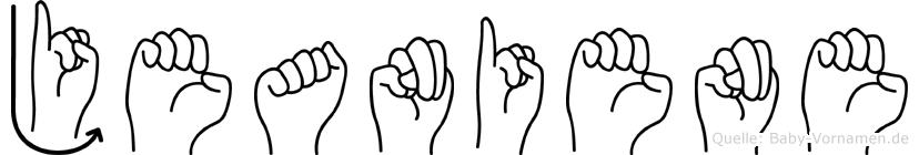 Jeaniene im Fingeralphabet der Deutschen Gebärdensprache
