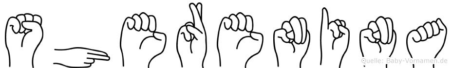 Sherenina im Fingeralphabet der Deutschen Gebärdensprache
