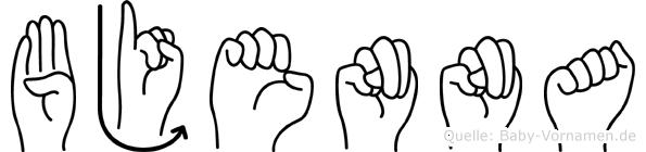 Bjenna in Fingersprache für Gehörlose