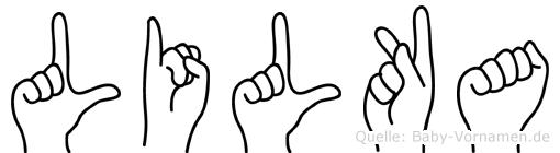 Lilka im Fingeralphabet der Deutschen Gebärdensprache