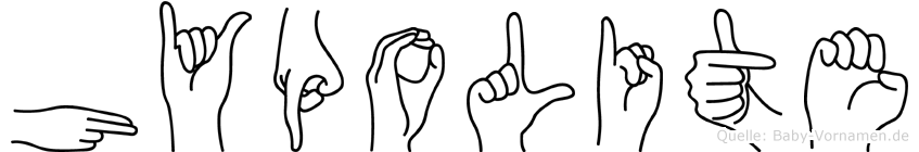 Hypolite in Fingersprache für Gehörlose