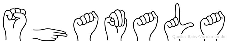 Shamala in Fingersprache für Gehörlose