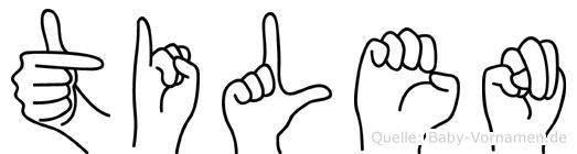Tilen in Fingersprache für Gehörlose