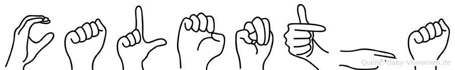 Calentha in Fingersprache für Gehörlose