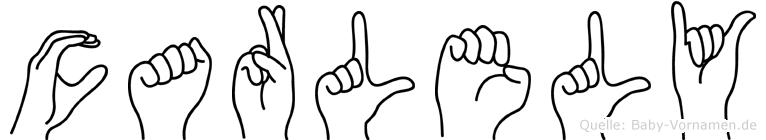 Carlely in Fingersprache für Gehörlose
