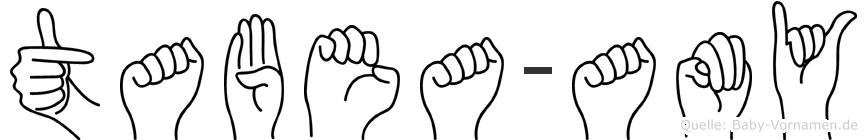 Tabea-Amy im Fingeralphabet der Deutschen Gebärdensprache