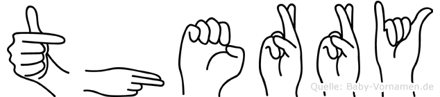 Therry im Fingeralphabet der Deutschen Gebärdensprache