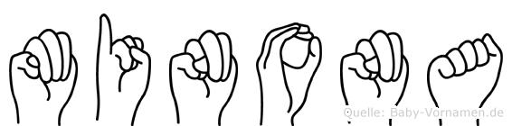 Minona in Fingersprache für Gehörlose