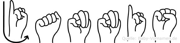 Jannis in Fingersprache für Gehörlose