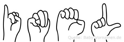 Inel im Fingeralphabet der Deutschen Gebärdensprache