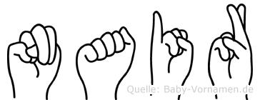 Nair in Fingersprache für Gehörlose