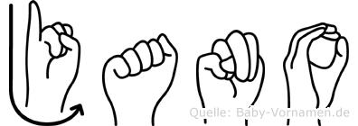 Jano im Fingeralphabet der Deutschen Gebärdensprache
