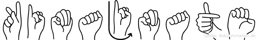 Kimajnate im Fingeralphabet der Deutschen Gebärdensprache