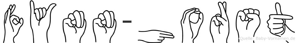 Fynn-Horst im Fingeralphabet der Deutschen Gebärdensprache