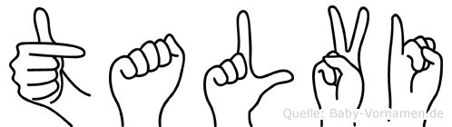 Talvi in Fingersprache für Gehörlose