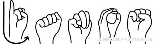 Janos in Fingersprache für Gehörlose