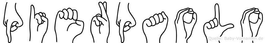Pierpaolo im Fingeralphabet der Deutschen Gebärdensprache