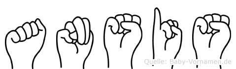 Ansis in Fingersprache für Gehörlose