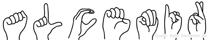 Alcemir im Fingeralphabet der Deutschen Gebärdensprache