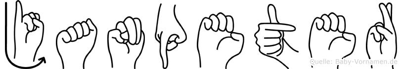 Janpeter im Fingeralphabet der Deutschen Gebärdensprache