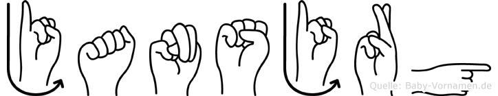 Jansjörg in Fingersprache für Gehörlose