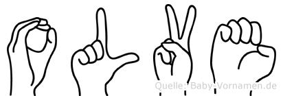 Olve in Fingersprache für Gehörlose