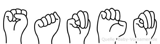 Sanem im Fingeralphabet der Deutschen Gebärdensprache