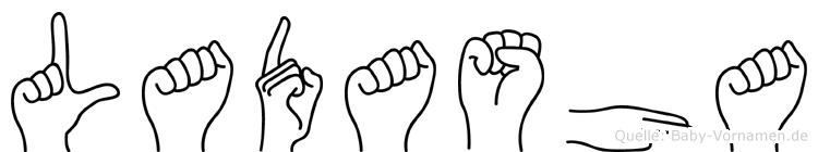 Ladasha in Fingersprache für Gehörlose