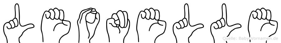 Leonelle im Fingeralphabet der Deutschen Gebärdensprache