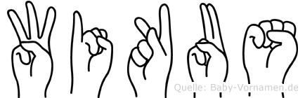 Wikus im Fingeralphabet der Deutschen Gebärdensprache