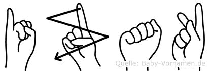 Izak in Fingersprache für Gehörlose