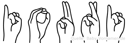 Iouri im Fingeralphabet der Deutschen Gebärdensprache