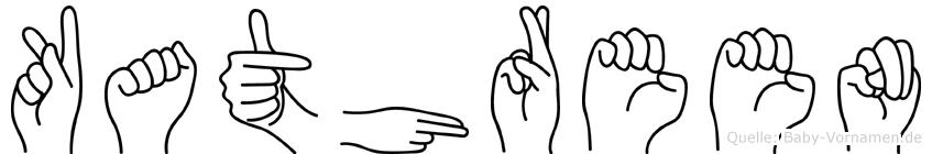 Kathreen im Fingeralphabet der Deutschen Gebärdensprache