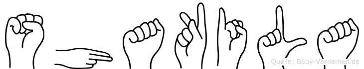 Shakila in Fingersprache für Gehörlose
