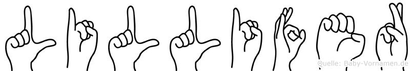 Lillifer in Fingersprache für Gehörlose