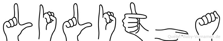 Lilitha in Fingersprache für Gehörlose