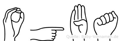 Ogba im Fingeralphabet der Deutschen Gebärdensprache