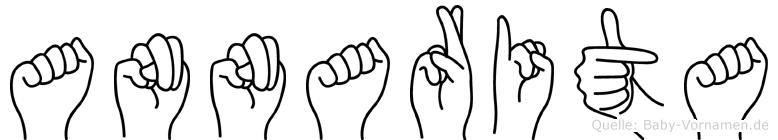 Annarita im Fingeralphabet der Deutschen Gebärdensprache