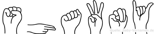Shawny in Fingersprache für Gehörlose