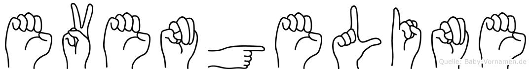 Evengeline in Fingersprache für Gehörlose