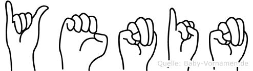 Yenin im Fingeralphabet der Deutschen Gebärdensprache
